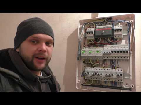 Щит в частном доме с генератором