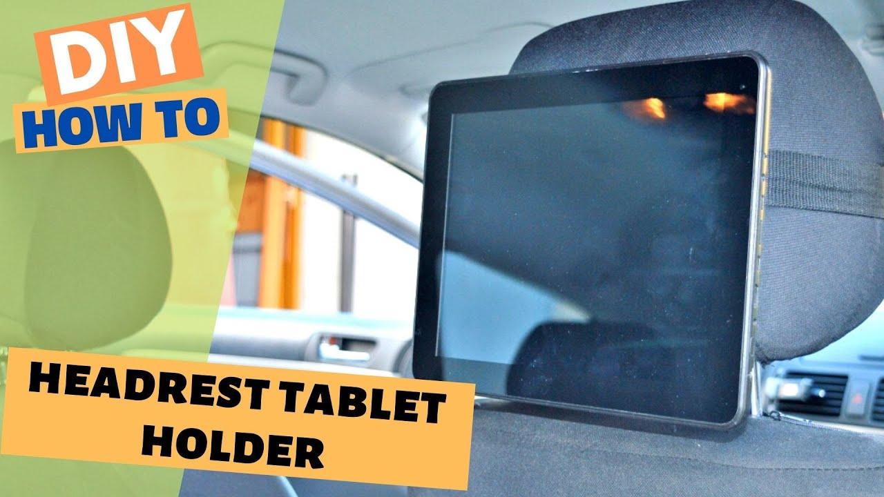 How To Make A DIY Car Headrest Tablet Holder