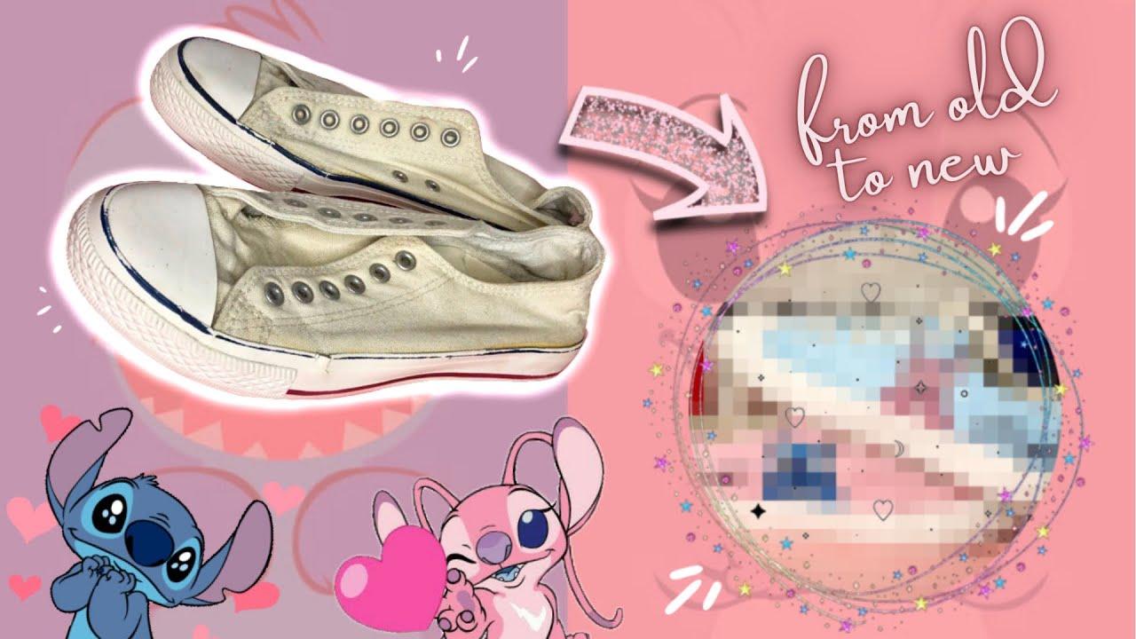 Customizing Old Shoes Using Acrylic Paint - Stitch & Angel | Jeralyn Bonga