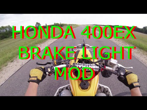 hqdefault how to honda 400ex brakelight mod youtube 07 400ex wiring diagram at panicattacktreatment.co