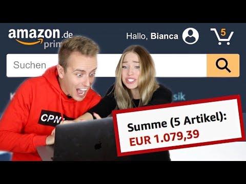 Er darf 3 Minuten ALLES auf Amazon bestellen 😳 (über 1000€ 😱) | Bibi
