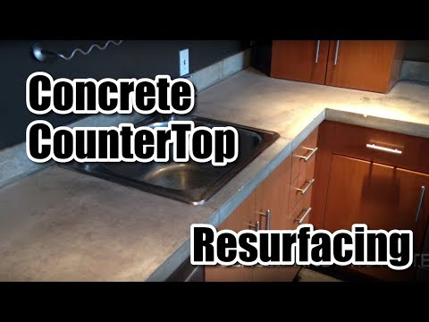 How To Resurface A Concrete Counter Top You