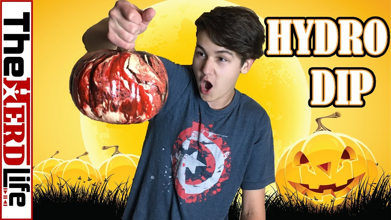 6954101b50fd4f HYDRO DIP PUMPKIN!! (HALLOWEEN IDEA) - YouTube