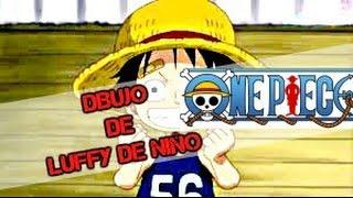 One Piece/ Monkey D. Luffy de niño/ Dibujo.