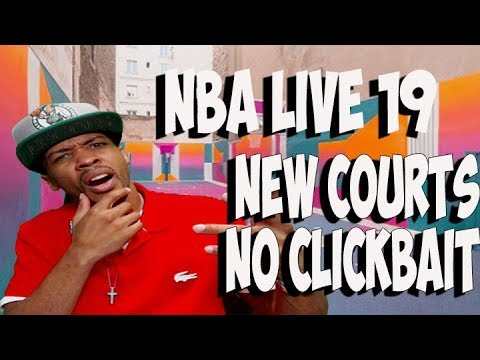 NBA LIVE 19 ,NOT CLICKBAIT , NEW POSSIBLE OPEN WORLD COURTS IN NBA LIVE 19