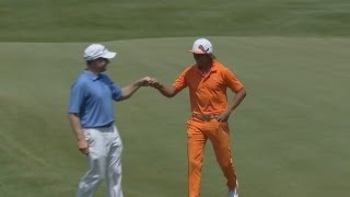 Rickie Fowler eagles on Sunday of Travelers Championship