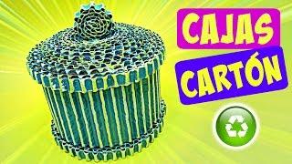 DIY INCREIBLES CAJAS DE CARTÓN. Manualidades fáciles