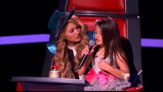 """Adriana Cortina: """"Hit the lights"""" en La Voz Kids"""