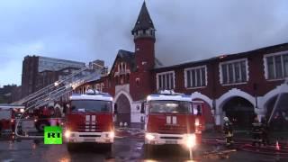 На Кутузовском проспекте в Москве произошел крупный пожар