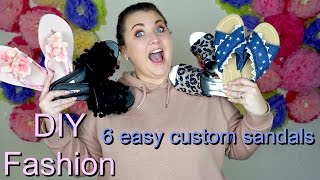 DIY fashion: 6 easy ways to customise sandals