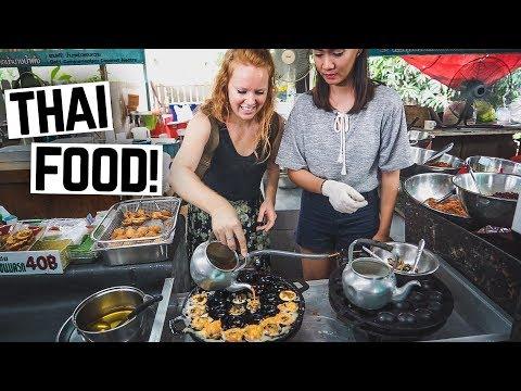 Thai Street Food - BEST FLOATING MARKET IN BANGKOK! + Dropped Camera in a Creek 😱
