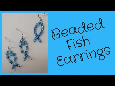 DIY Earrings Easy Beaded Fish