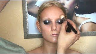 Техника выполнения smoky eyes (смоки айз, дымчатый глаз). Видеоурок от Василия Скобелина
