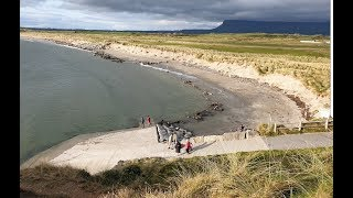 ROSSES POINT BEACH AND CLIFFS AT SLIGO IN IRELAND