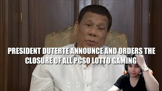 Pres Duterte orders to shutdown PCSO lotto, Payag kayo?