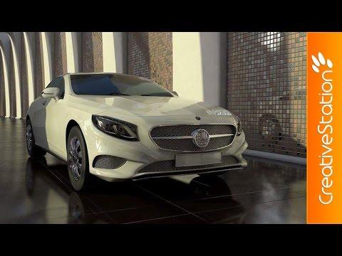 Mercedes Benz S - 3D Speed art (#Cinema4D) | CreativeStation