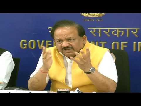 Video Conference with 13 regional centres by Union Minister Dr. Harsh Vardhan