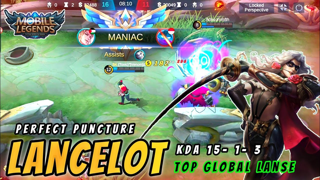 Lancelot The Perfect Puncture Combo Gameplay By Top Global Lancelot : Lancelot Mobile Legends