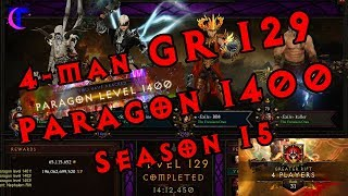 Diablo III Season 15 - 4man GR 129 - TrepChains Paragon 1400