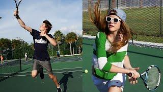 WIR SPIELEN TENNIS! :D | Dner in Florida