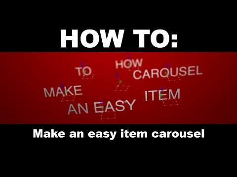 After Effects Tutorial - How To: Make an easy item carousel.