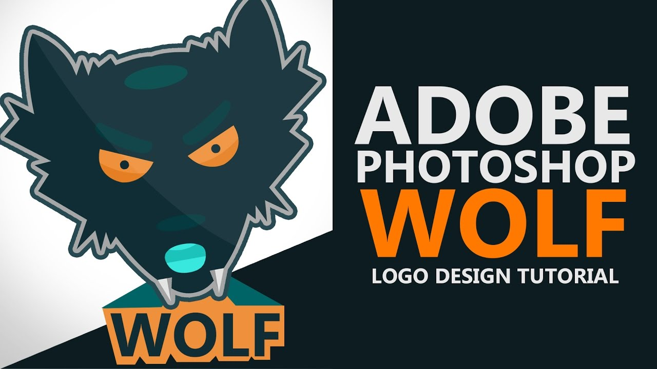 How To Make Logo In Photoshop Cs6  Wolf Logo  Flat Design Logo Tutorial