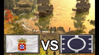 WickedCossack plays the water game! [Age of Empires 3]