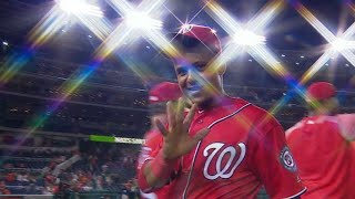 8/12/17: Harper leaves game with injury, Nats win 3-1