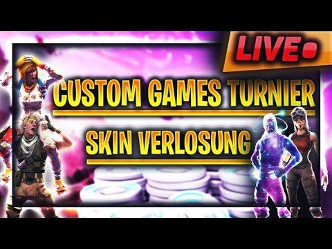 🔴 Fortnite Custom Games Turnier Live 💸 SKINS VERLOSUNG 💸 Neuer Shop!! Fortnite Live Deutsch thumbnail