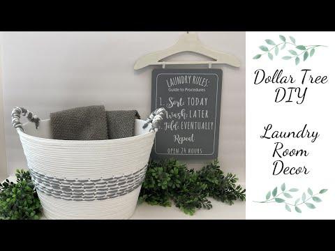 Dollar Tree DIY Laundry Room Decor/ Dollar General Laundry Sign Personalized