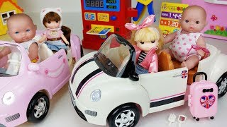Baby doll car and gas station toys picnic play - 토이몽
