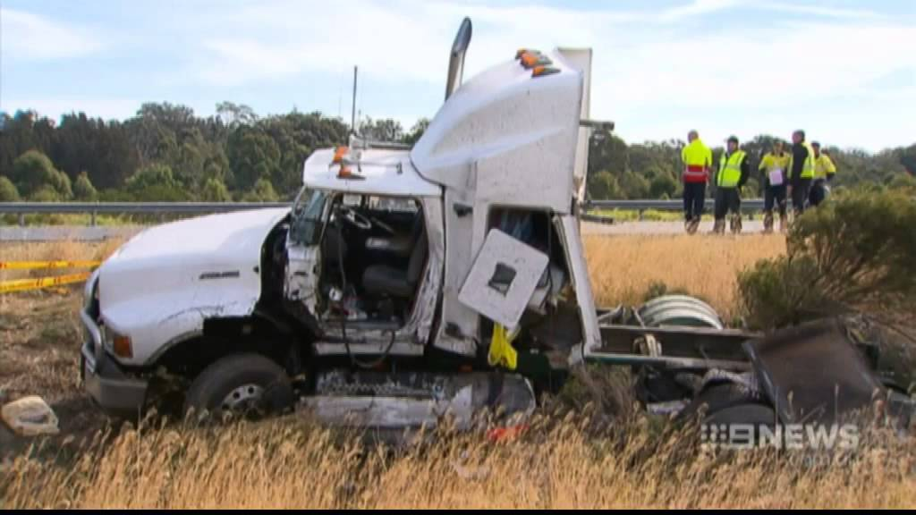 CH9: Trucks obliterated in fatal crash on Hume Highway