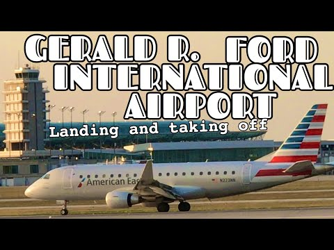 Airplanes Landing and take off in Grand Rapids, MI - GERALD R. FORD INTERNATIONAL AIRPORT
