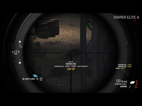 Sniper Elite 4 - Longest Shot 443.8m - Lorino Dockyards