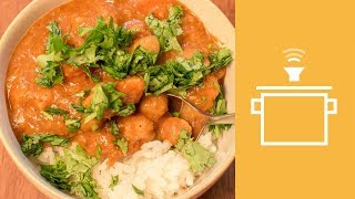 Silently Cooking - Sweet Potato and Chickpea Curry
