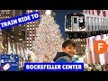 Johny's MTA Subway Train Ride To Rockefeller Center To See  Giant Christmas Tree Trains for kids