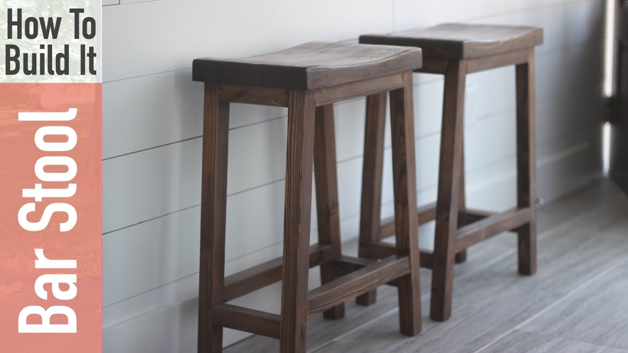 How to Build a Counter Height Bar Stool with a Curved Seat for $10 ...