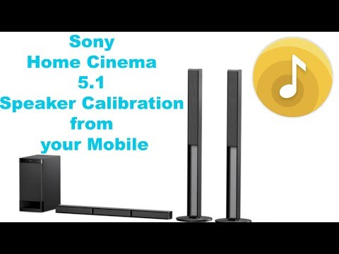 Sony Home Theater Calibration Settings from your Mobile