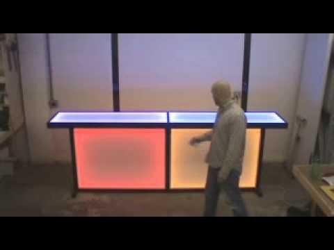 Ultimate Light Up Tradeshow Table U0026 Bar Table.wmv   YouTube