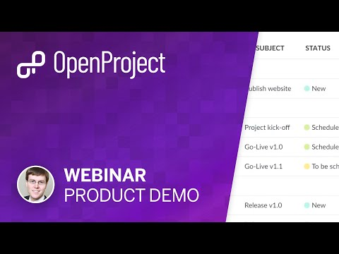 OpenProject product demo (webinar)