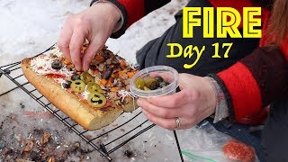 Pizza on a Campfire | 28 Day Fire Challenge | Food & Fire