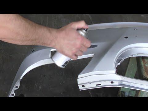 Как самому покрасить бампер автомобиля в домашних условиях видео