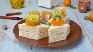 Как приготовить блинный торт с творогом - Рецепты от Со Вкусом