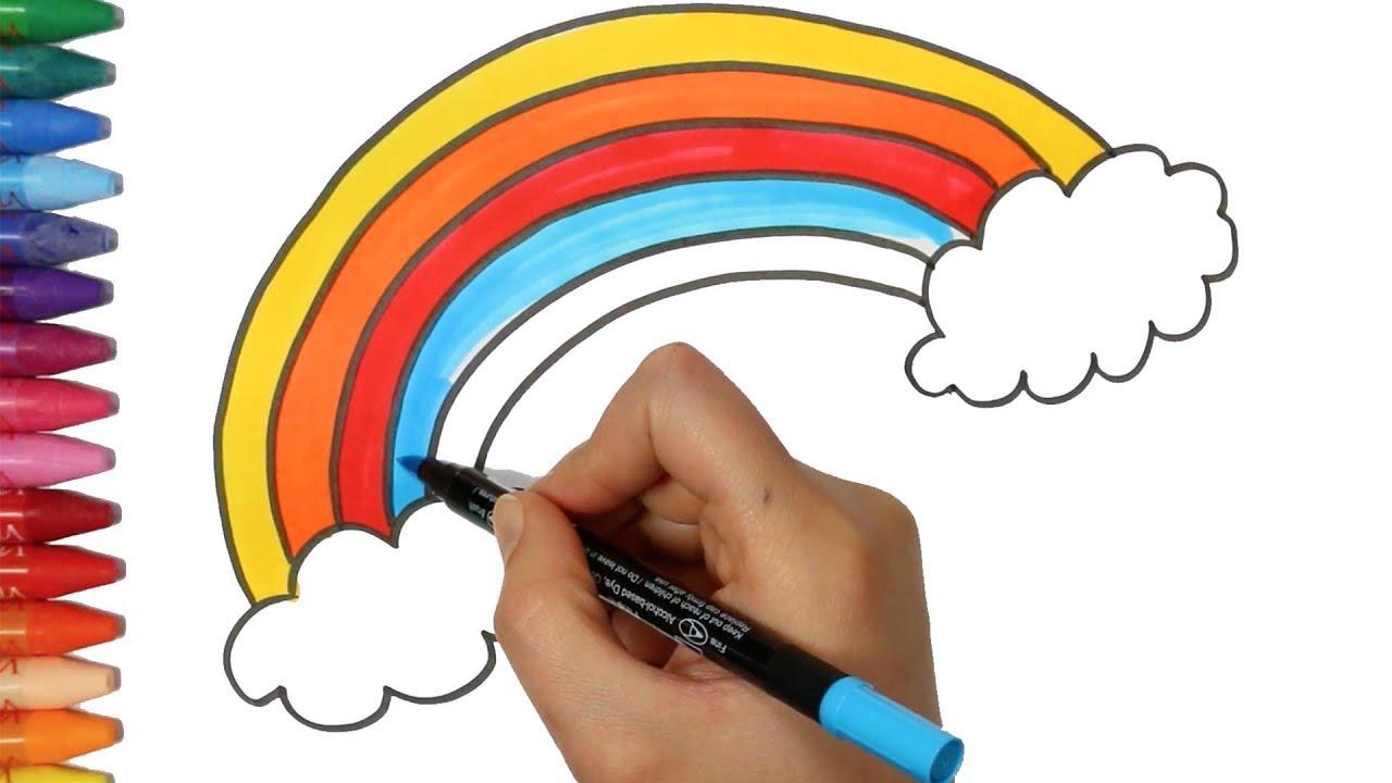 wie zeichnet man regenbogen zeichnen und ausmalen f r kinder youtube. Black Bedroom Furniture Sets. Home Design Ideas