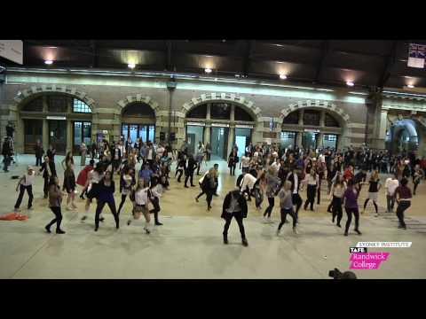 Sydney TAFE Students Flash Mob Dance at Central Station Sydney
