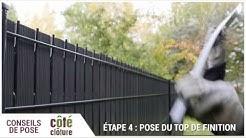 Côté Clôture - Poser un kit d'occultation en Lattes PVC