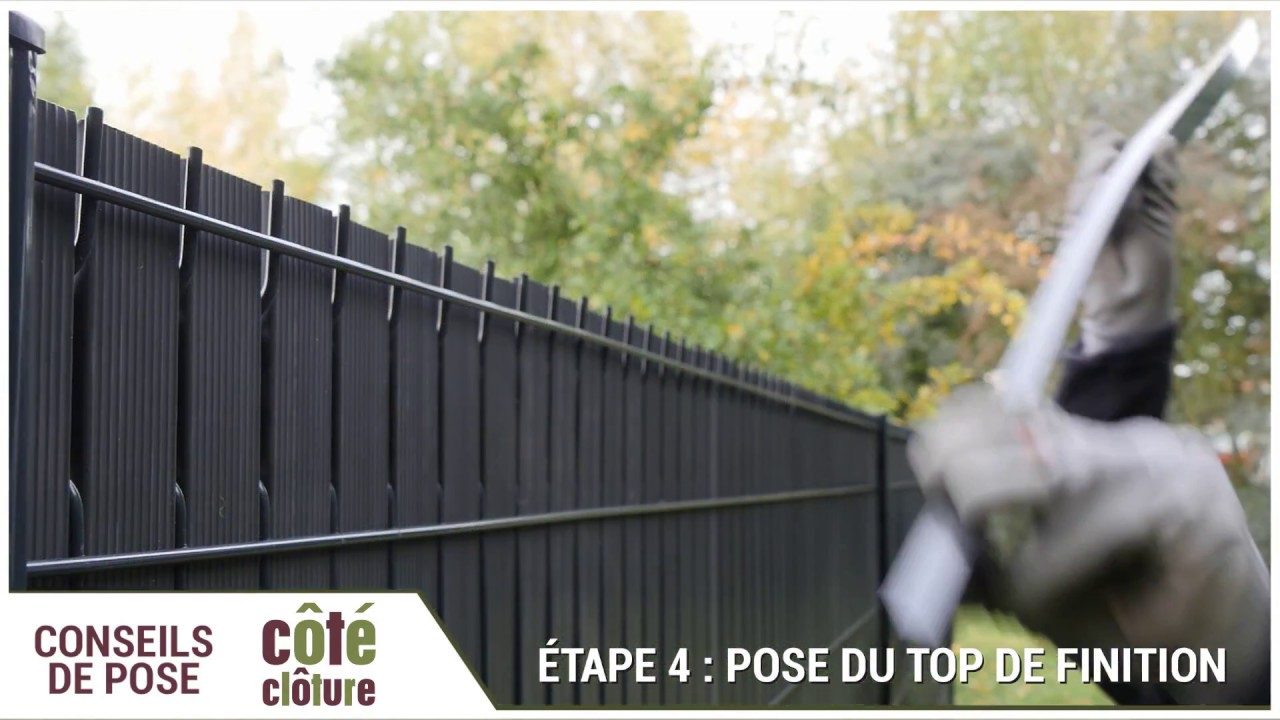 Cote Cloture Poser Un Kit D Occultation En Lattes Pvc Youtube