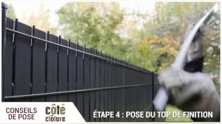 Cote Cloture Poser Un Kit D Occultation En Lattes Pvc Youtube