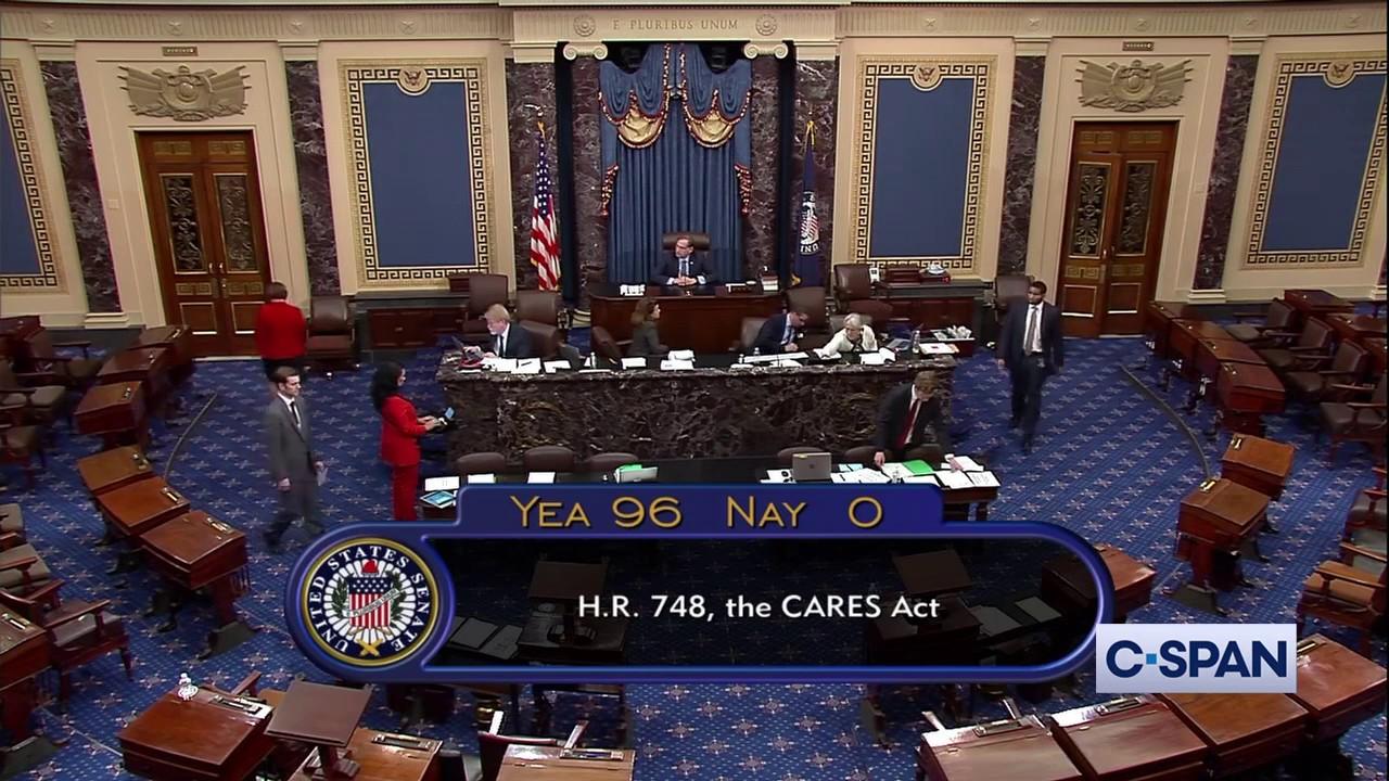 U.S. Senate PASSES $2 Trillion Coronavirus Economic Stimulus Bill