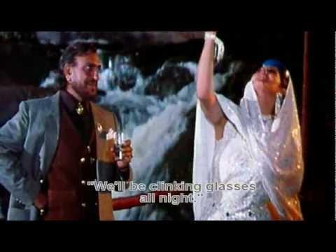 Raat Bhar Jaam Se (Eng Sub) [Full Video Song] (HD) With Lyrics - Tridev